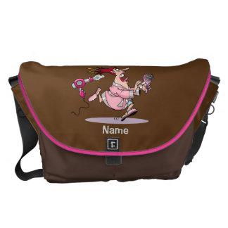 Funny Hairdresser hair stylist bag personalized Messenger Bag