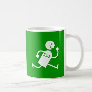 Funny half marathon basic white mug