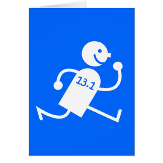 Funny half marathon card