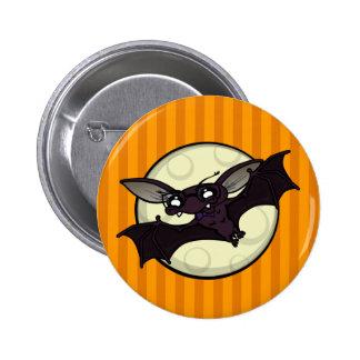 FUNNY HALLOWEEN BAT ROUND BUTTON