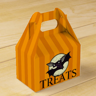 FUNNY HALLOWEEN BAT WITH STRIPES GABLE FAVOR BOX