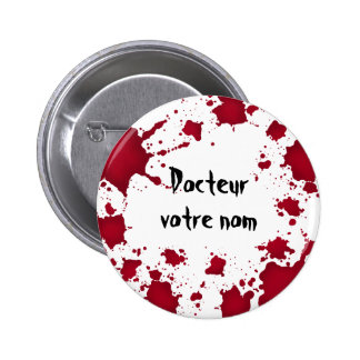 Funny Halloween bloody psycho Docteur 6 Cm Round Badge