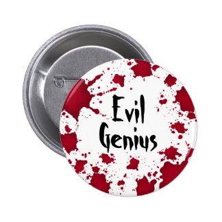 Funny Halloween bloody psycho evil genius 6 Cm Round Badge