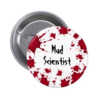 Funny Halloween bloody psycho mad scientist Pins