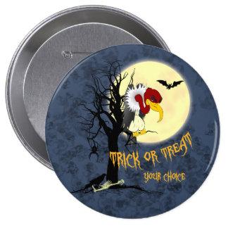 Funny Halloween Buzzard 10 Cm Round Badge