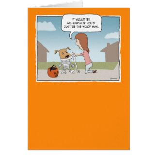 Funny Halloween card: Woof Man