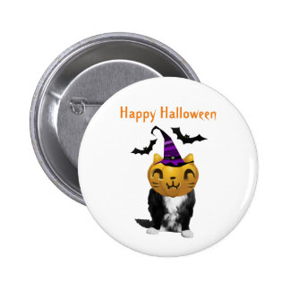Funny Halloween Cat Pin Buttons