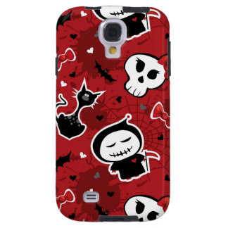 Funny Halloween Characters Pattern Galaxy S4 Case