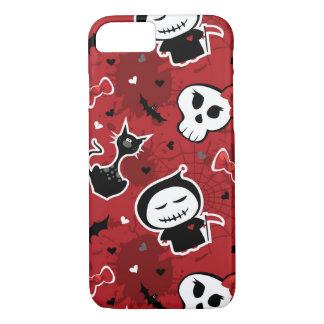 Funny Halloween Characters Pattern iPhone 7 Case