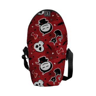 Funny Halloween Characters Pattern Messenger Bags