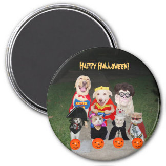 Funny Halloween Dogs & Cats 7.5 Cm Round Magnet