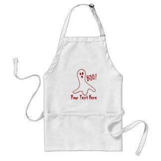 funny halloween ghosts shouting boo! standard apron
