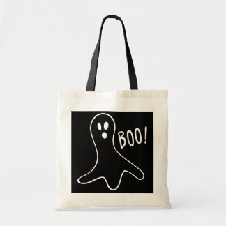 funny halloween ghosts shouting boo! canvas bag