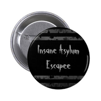 Funny Halloween | Insane asylum 6 Cm Round Badge