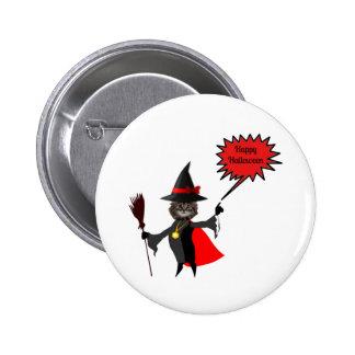 Funny Halloween Kitten Pin Buttons