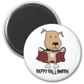Funny Halloween magnet: Vampire Dog 6 Cm Round Magnet