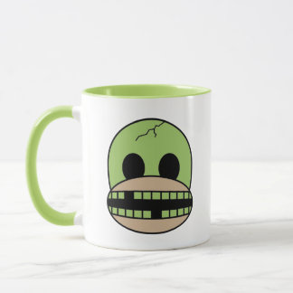Funny Halloween Monster Sock Monkey Coffee Mug