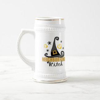 Funny Halloween Neighborhood Witch Beer Stein/Mug