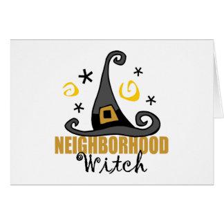 Funny Halloween Neighborhood Witch Halloween Card