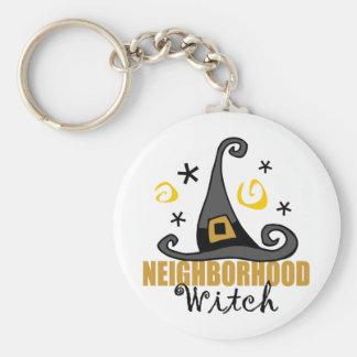 Funny Halloween Neighbourhood Witch Keychain