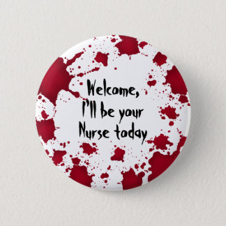 Funny Halloween Nurse 6 Cm Round Badge