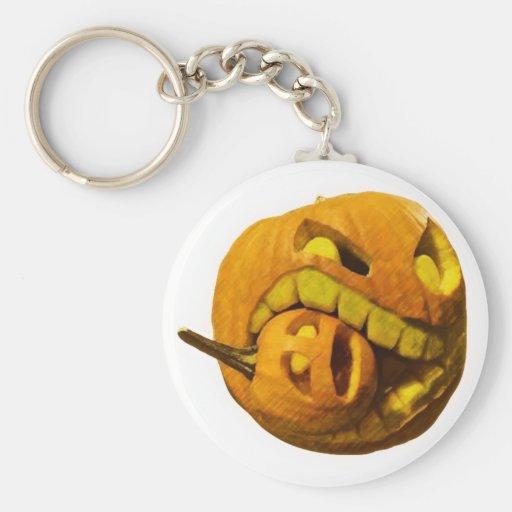 Funny Halloween Pumkin Head Keychains