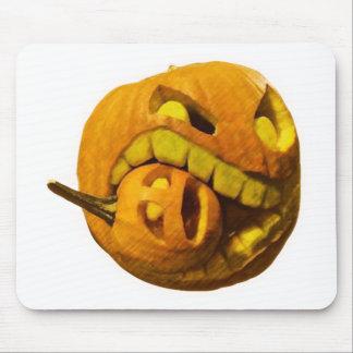 Funny Halloween Pumkin Head Mouse Pad