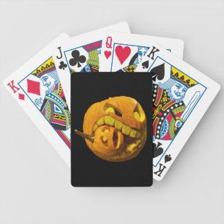 Funny Halloween Pumkin Head Poker Deck