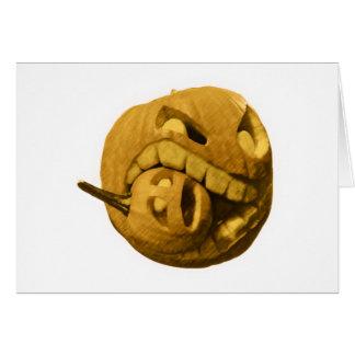 Funny Halloween Pumkin Head (Vintage Version) Greeting Card