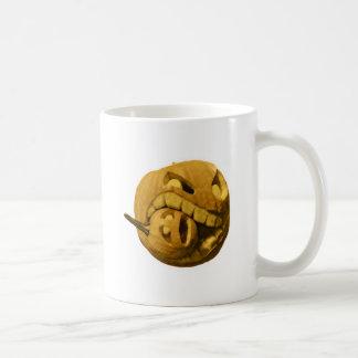 Funny Halloween Pumkin Head (Vintage Version) Mug