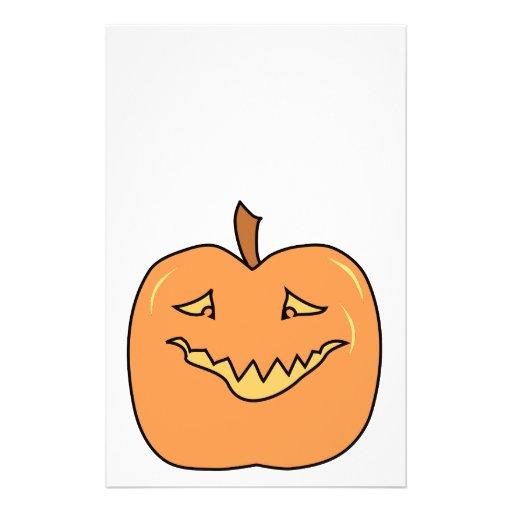 Funny Halloween Pumpkin Cartoon Flyer