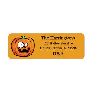 Funny Halloween Pumpkin custom labels