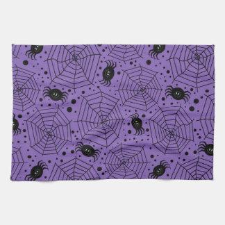 Funny Halloween Spiders Tea Towel