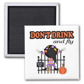 Funny Halloween Square Magnet