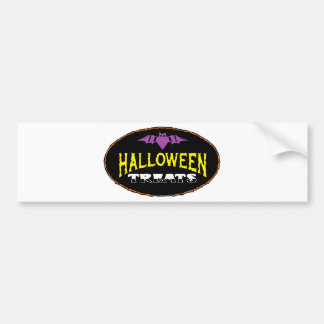 funny halloween treats bumper stickers