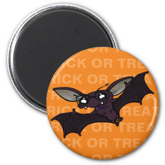 FUNNY HALLOWEEN TRICK OR TREAT BAT MAGNET