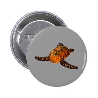 Funny Halloween Turtle 6 Cm Round Badge