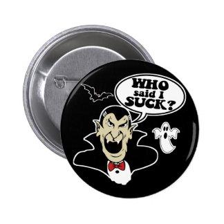 Funny Halloween Vampire 6 Cm Round Badge