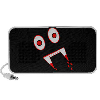 Funny Halloween Vampire face Mp3 Speakers