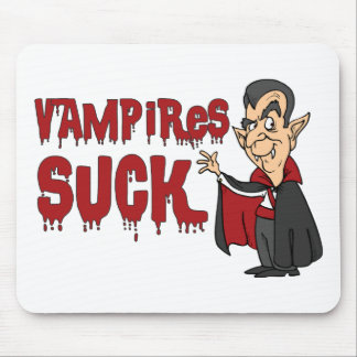 Funny Halloween Vampires Suck Mouse Pad