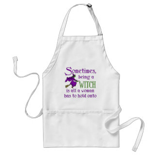 Funny Halloween Witch Adult Apron