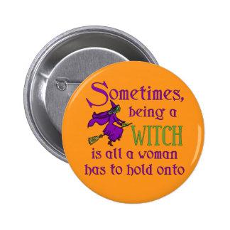 Funny Halloween Witch 6 Cm Round Badge