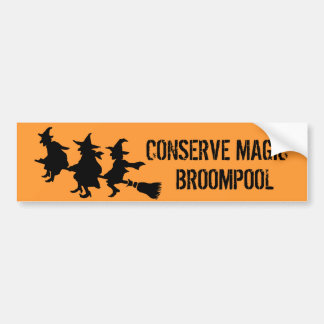 Funny Halloween Witches Bumper Stickers