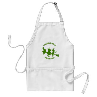 Funny Halloween Witches Green Standard Apron