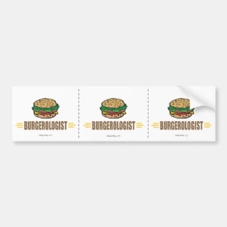 Funny Hamburger Bumper Sticker