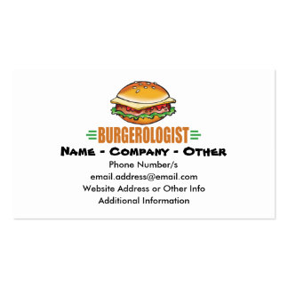 Funny Hamburger Business Card Templates