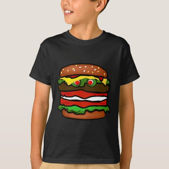 Funny Hamburger Kids Tee Shirt