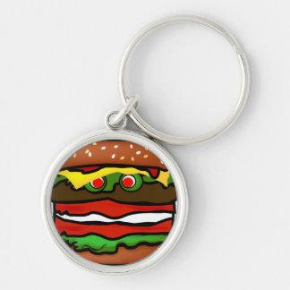 Funny Hamburger Premium Keychain 2