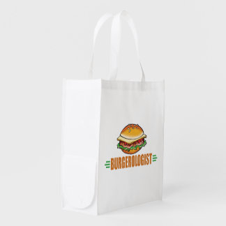 Funny Hamburger Reusable Grocery Bag
