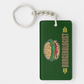 Funny Hamburger Single-Sided Rectangular Acrylic Key Ring